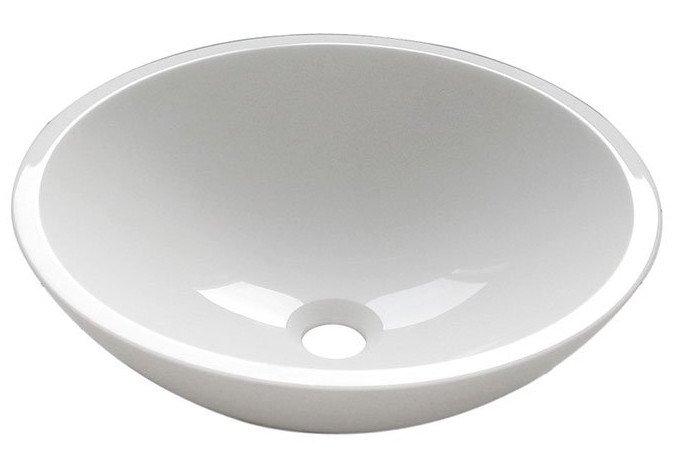 SAPHO - FENIX skleněné umyvadlo průměr 42 cm, bílá (2501-02)