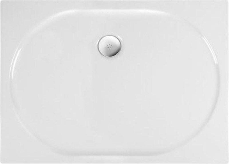 POLYSAN ELIPSA sprchová vanička akrylátová, obdélník 90x70x4cm, bílá 67111
