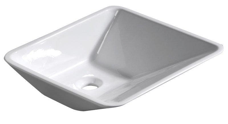 ALICE CERAMICA - EDGE keramické umyvadlo 44x16x44cm, na desku, bez přepadu (26100301)