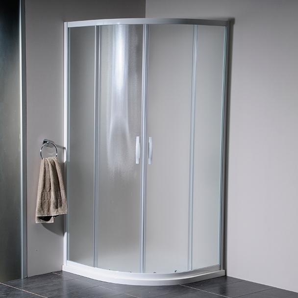 GELCO - ETERNO čtvrtkruhová sprchová zástěna 900mm, sklo BRICK (GE7590)