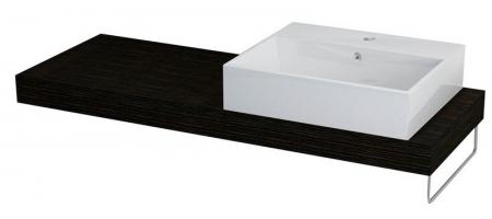 SAPHO - ELSA deska 120x44cm, otvor vpravo, dub tmavý (59706PDB)