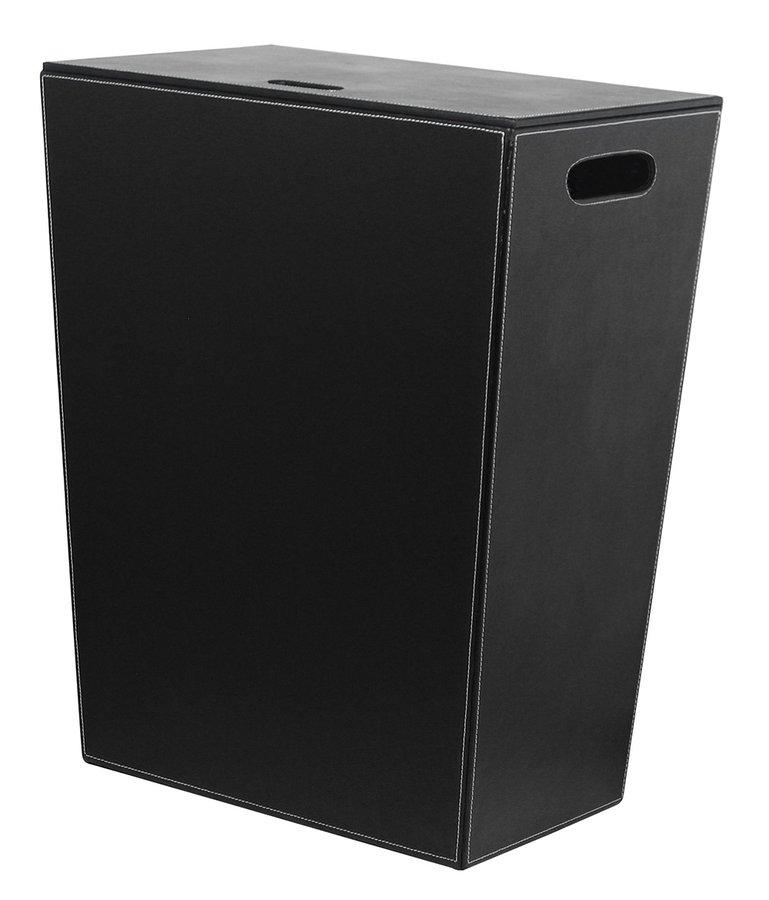 ECO PELLE koš na prádlo 43x48x26cm, černá (2462BK) SAPHO