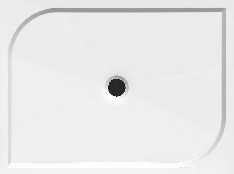 AQUALINE - GALET 120/90 sprchová vanička z litého mramoru, 120x90x3 cm (HQ12090)