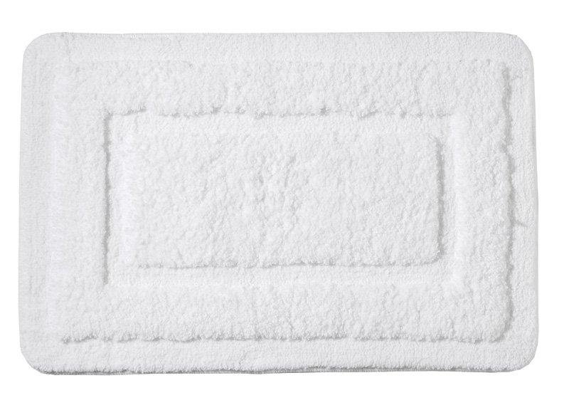 Ridder - JUWEL předložka 60x90cm s protiskluzem, polyester, bílá (RI758311)