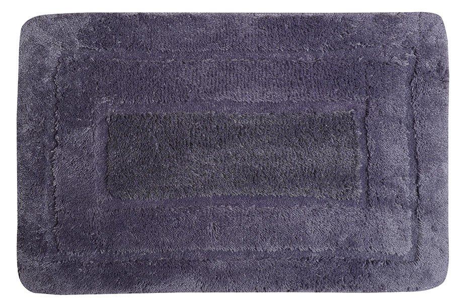 AQUALINE - Koupelnová předložka, 50x80 cm, 100% acryl, protiskluz, tmavě fialová (KP01F)
