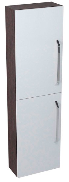 SAPHO KALI skříňka vysoká 40x140x20cm, wenge/bílá 56087LP