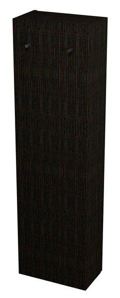 SAPHO - Obrácená skříň 40x140x20cm, tmavý dub, pravá (22333)