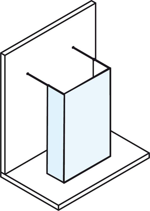 POLYSAN - MODULAR SHOWER rozměry mm: A882 B=C+D C380 D<500 H2000 (MS110B)