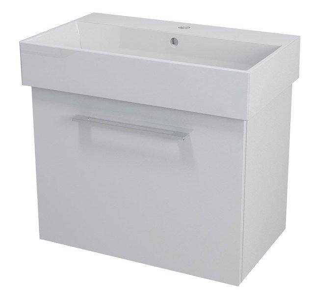 SAPHO - NATY umyvadlová skříňka 66,5x50x40cm, bílá (NA071)