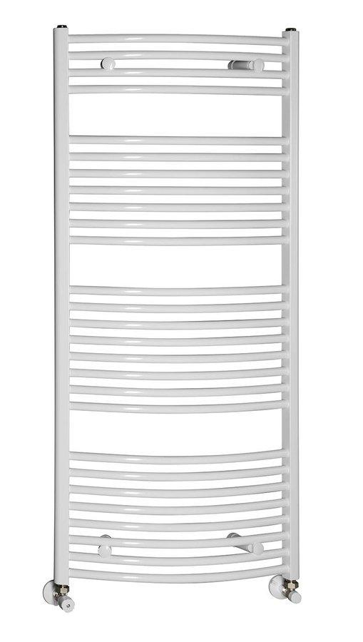 AQUALINE - Otopné těleso oblé 600x1330mm, 708W, bílá (ILO36)