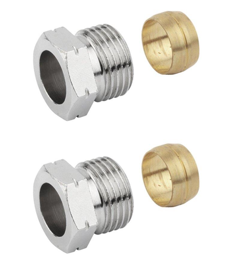 RIDEA - PLUS svěrné šroubení pro měď 15mm, nikl (CP1299)