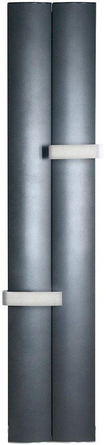 RIDEA - OTHELLO TWIN otopné těleso 460x1890 mm, 2 držáky ručníků otevřené, černá matná (2221189046SN)