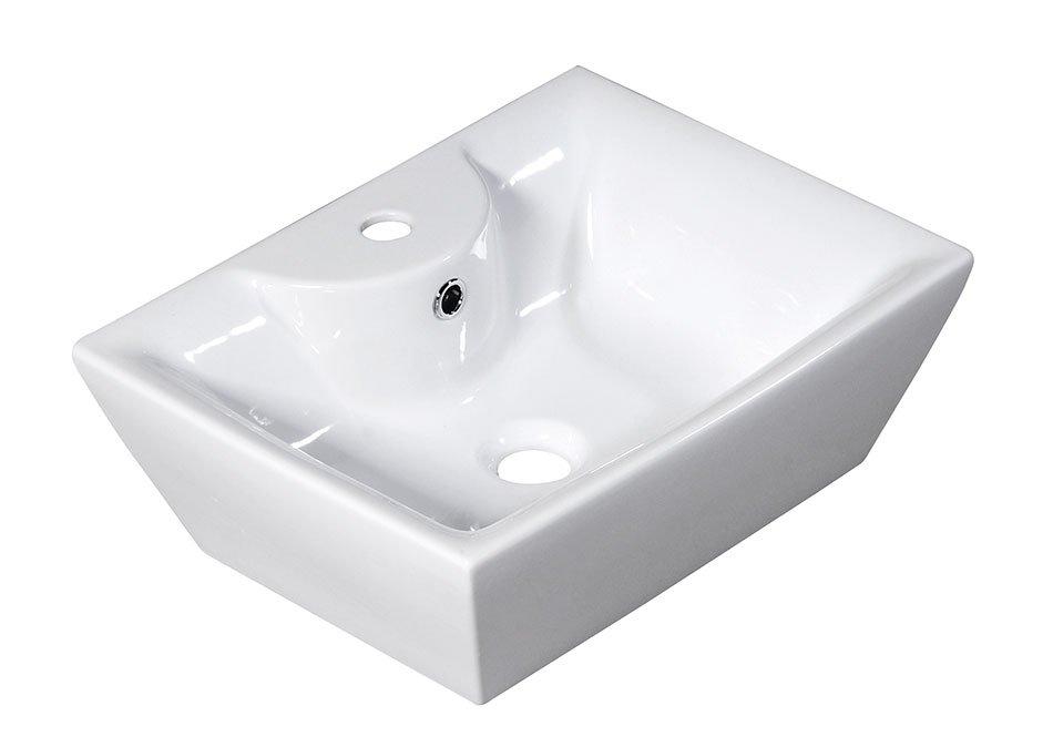 ALICE CERAMICA - QUADRO PLUS keramické umyvadlo 49x17,5x38cm, na desku (25110301)