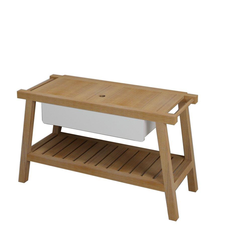 PRIM umyvadlová skříňka 125x72x50cm, cedr/bílá (PM120) SAPHO