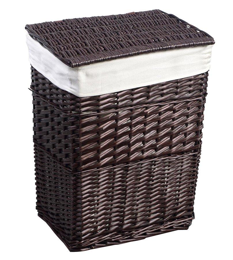 Prádelní koš, 73l, hnědá (KF039) Aqualine