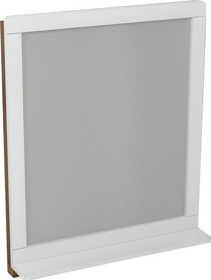 SAPHO - PRIM zrcadlo s policí 70x84x14cm, buk/bílá (PM005)