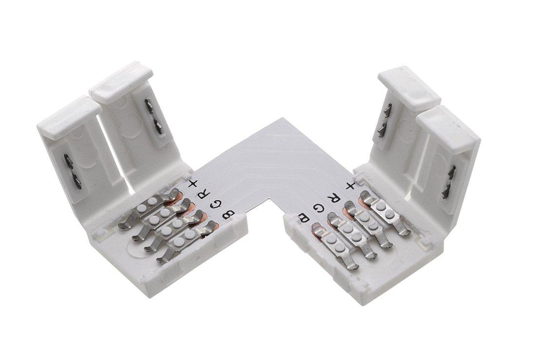 Spojovací L konektor RGB LED pásků s chipem 5050 (LDK680) - Sapho Led
