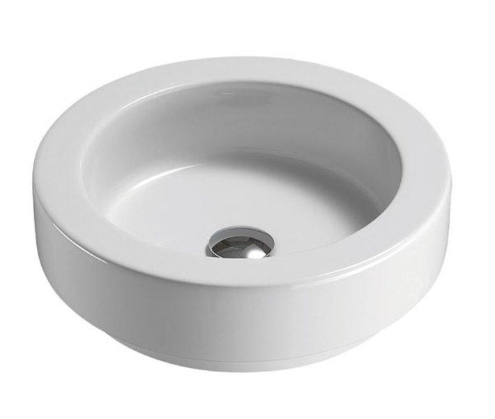 GSI - TRACCIA keramické umyvadlo průměr 45cm, na desku (693511)