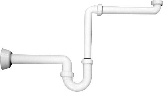 Umyvadlový sifon šetřící místo 1'1/4-40mm, bílá (2126.054.6)