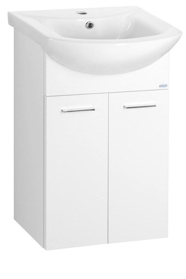 ZOJA umyvadlová skříňka 42x74x25cm, bílá (51045)