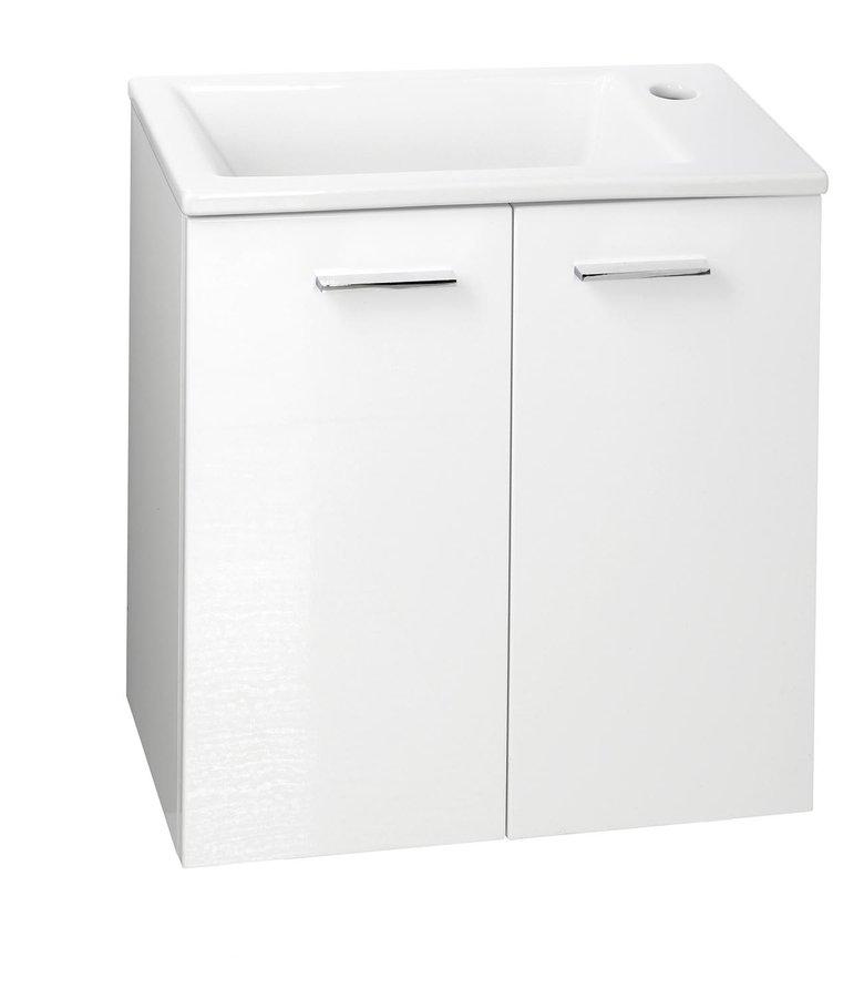 AQUALINE - ZOJA umyvadlová skříňka 49x50x24,6cm, 2 dvířka, bílá (51047)