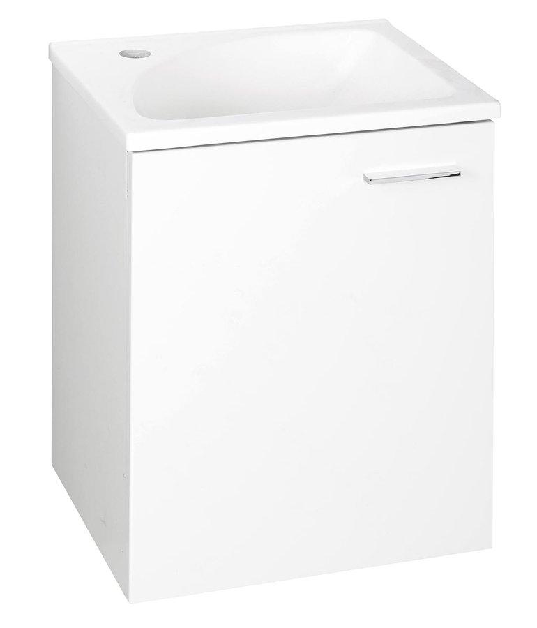AQUALINE - ZOJA umyvadlová skříňka 40x50x32cm, 1 dvířka, bílá (51048)