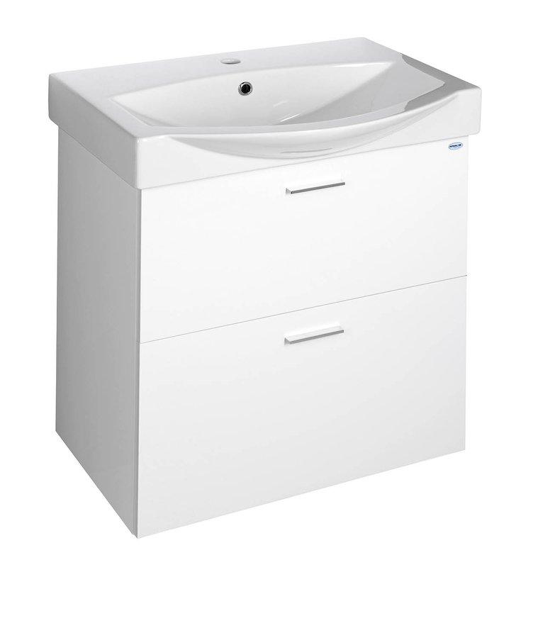 AQUALINE - ZOJA umyvadlová skříňka šuplíková 62x67x37,8cm, bílá (51167)