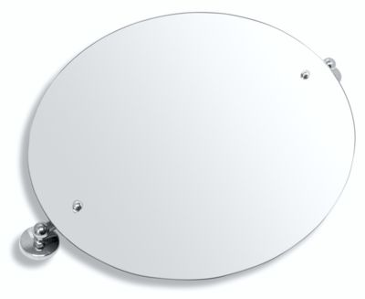 NOVASERVIS - Zrcadlo s výklopným držákem ovál 60x50 cm  Metalia 1 chrom (6117,0)