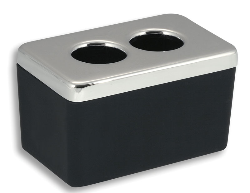 NOVASERVIS - Dóza na kosmetické tampony  Metalia 4 černá-chrom (6422,5)