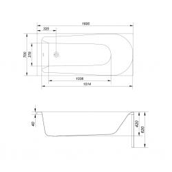 CERSANIT - VANA FLAVIA 160X70 cm (S301-106), fotografie 8/10