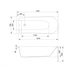 CERSANIT - VANA FLAVIA 170X70 cm (S301-107), fotografie 8/11