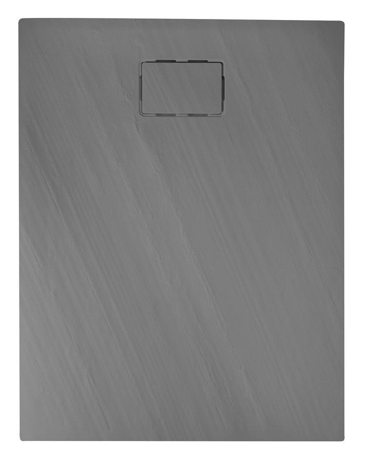 SAPHO - ATIKA sprchová vanička z litého mramoru, obdélník 120x80x3,5cm, šedá,dekor kámen (AK024)