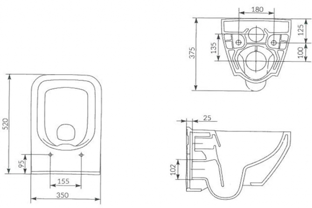 AKCE/SET/GEBERIT - Duofix pro závěsné WC 111.300.00.5 CR + klozet a sedátko CERSANIT CREA HRAN. CLEANON /K114-016+K98-0178/ (111.300.00.5 CR2), fotografie 12/8