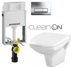 AKCE/SET/GEBERIT - SET GEBERIT - KOMBIFIXBasic včetně ovládacího tlačítka DELTA 51 CR pro závěsné WC CARINA  CLEAN ON - SEDÁTKO (110.100.00.1 51CR CA1)