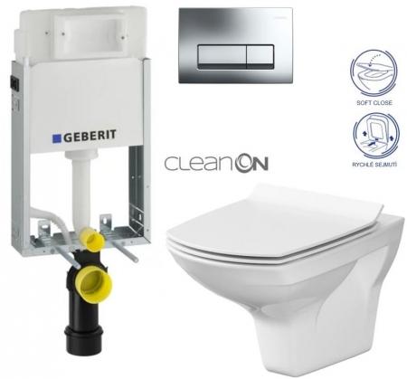 AKCE/SET/GEBERIT - SET GEBERIT - KOMBIFIXBasic včetně ovládacího tlačítka DELTA 51 CR pro závěsné WC CARINA CLEAN ON + SEDÁTKO (110.100.00.1 51CR CA3)