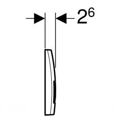 GEBERIT KOMBIFIXBasic vč. chromového tlačítka DELTA 51 + WC CERSANIT CLEANON COMO + SEDÁTKO (110.100.00.1 51CR CO1), fotografie 20/12