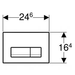 AKCE/SET/GEBERIT - SET GEBERIT - KOMBIFIXBasic včetně ovládacího tlačítka DELTA 51 CR pro závěsné WC CASPIA CLEAN ON + SEDÁTKO (110.100.00.1 51CR CP1), fotografie 24/13