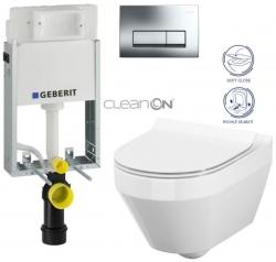 AKCE/SET/GEBERIT - SET GEBERIT - KOMBIFIXBasic včetně ovládacího tlačítka DELTA 51 CR pro závěsné WC CREA OVÁL CLEAN ON + SEDÁTKO (110.100.00.1 51CR CR1)