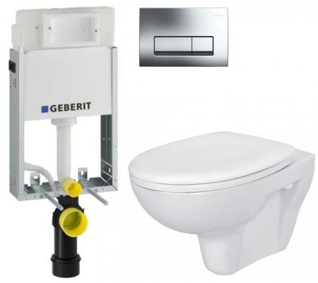 AKCE/SET/GEBERIT - GEBERIT - KOMBIFIXBasic včetně ovládacího tlačítka DELTA 51 CR pro závěsné WC PRESIDENT + SEDÁTKO (110.100.00.1 51CR PR1)