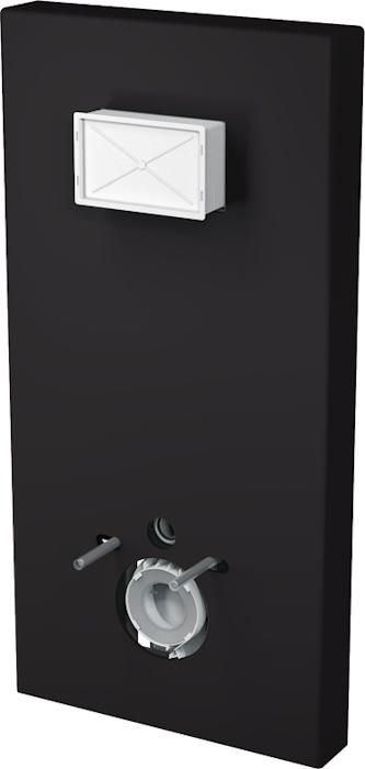 ALCAPLAST SLIMBOX černý, kryt + A1101B/1200 Sádromodul Slim M1204 (M1204)