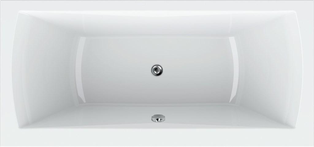 Teiko TITAN 180x80 bílá +nohy, lem 4cm, přepad kulatý  V113180N04T06001 (V113180N04T06001)
