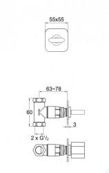 STEINBERG - Podomítkový ventil, chrom (230 4500), fotografie 10/5