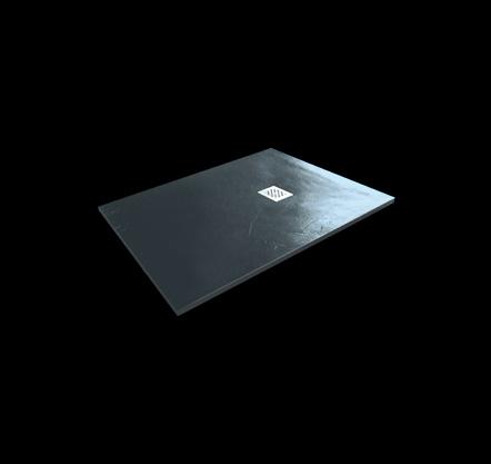 Aquatek - Hard TOP 100x70 sprchová vanička z litého mramoru s břidlicovým povrchem šedá (HARDTOP10070C)