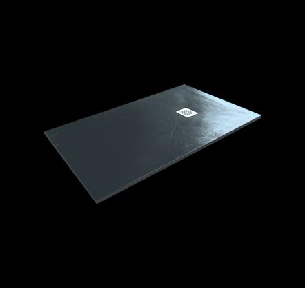Aquatek - Hard TOP 120x70 sprchová vanička z litého mramoru s břidlicovým povrchem šedá (HARDTOP12070C)