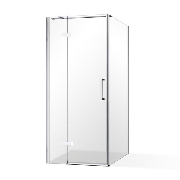 Roltechnik Jednokřídlé sprchové dveře OBDNL(P)1 s pevnou stěnou OBDB Obdélníkový sprchový kout levými dveřmi 900x800 OBDNL1-90_OBDB-80 RT OBDNL1-90_OBDB-80