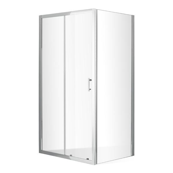 Roltechnik Posuvné sprchové dveře OBD2 s pevnou stěnou OBB Obdélníkový sprchový kout 1200x800 mm OBD2-120_OBB-80 RT OBD2-120_OBB-80