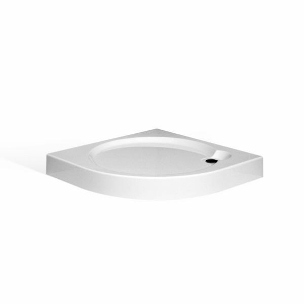 Roltechnik Samonosná sprchová vanička iROUND Čtvrtkruhová 800x800 mm 8000231 RT 8000231
