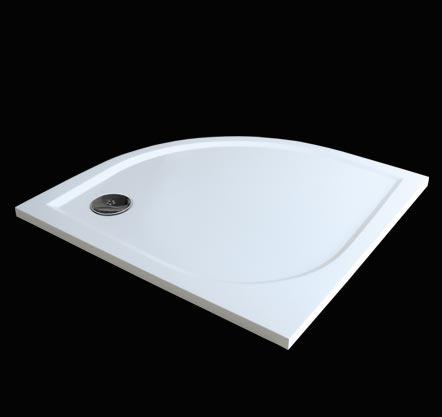 Aquatek Hard 80 sprchová vanička z litého mramoru čtvrtkruhová , doplňky čelní krycí panel HARD80-23