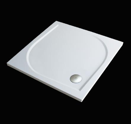 Aquatek Hard 90 sprchová vanička z litého mramoru čtvercová , doplňky čelní krycí panel HARD90CTV-23