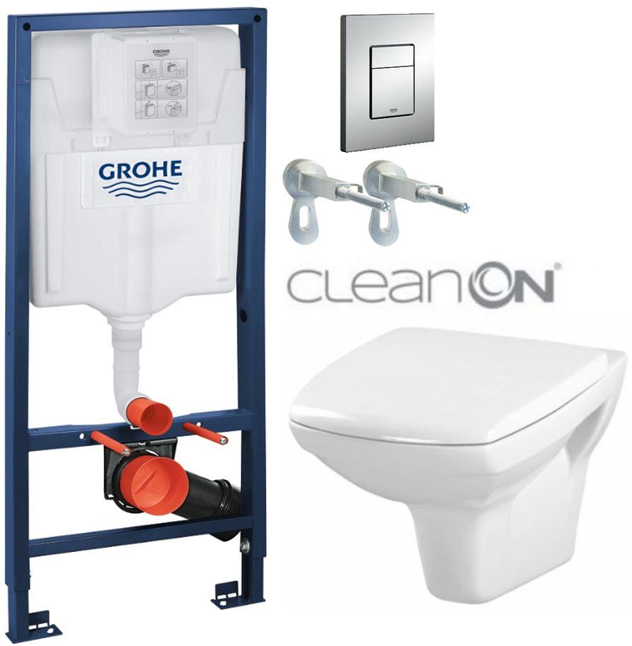 AKCE/SET/GROHE - Rapid SL Rapid SL pro závěsné WC 38528SET + WC CERSANIT CARINA CLEAN ON + SEDÁTKO (38772001 CA1)